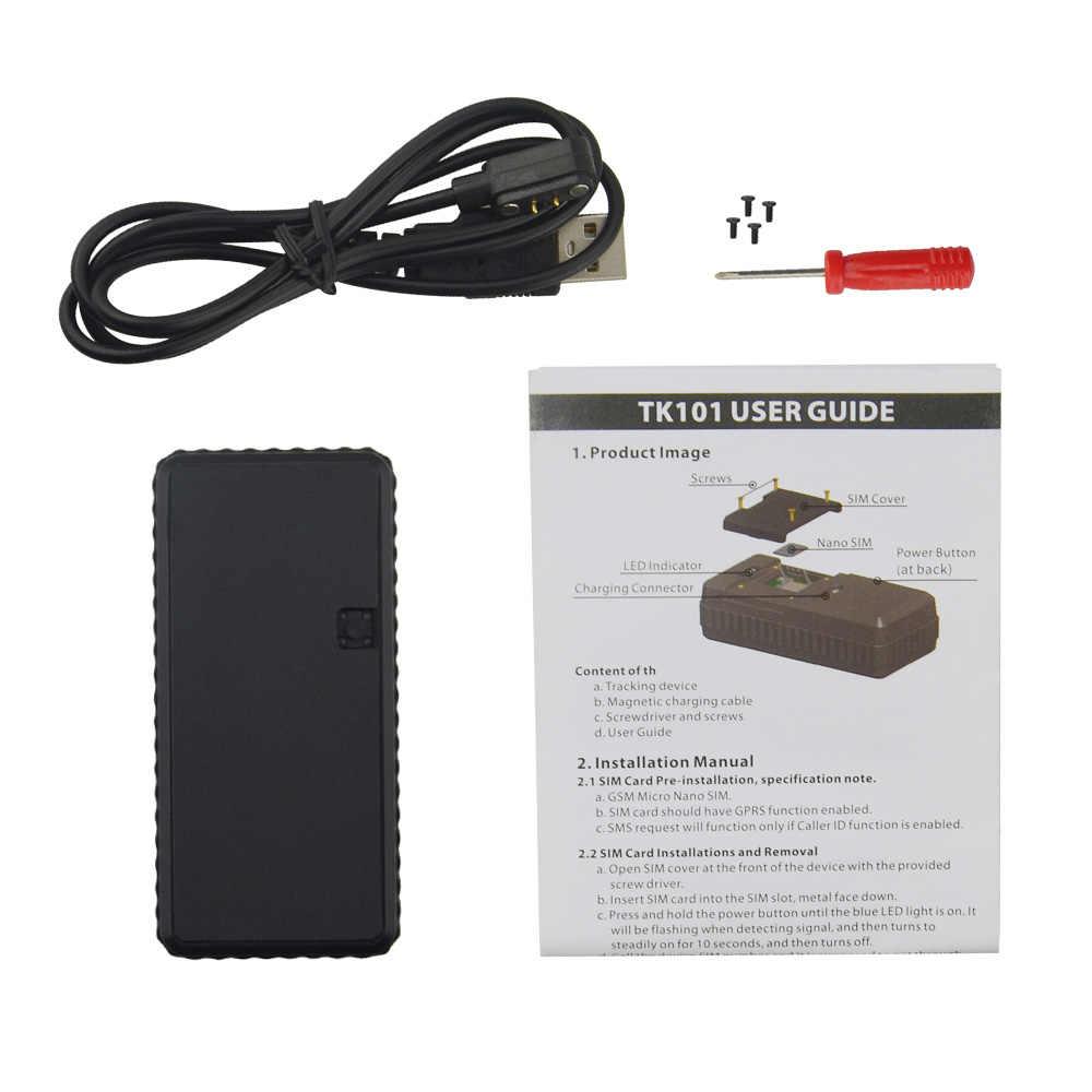 TK101 aucune boîte 3000 mAh longue durée de veille batterie étanche utilisation extérieure Mini magnétique GPS voiture Tracker facile à transporter caché