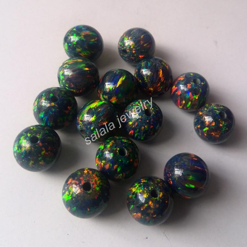 10 Pièces indonésien Kashmiri Perle Boule étoile Strass 14 mm NOIR r154