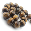 Free Shipping 4 6 8 10 12 14 16 18 20 mm 38cm/pc natural Stone Brown Gold Tiger Eye Agate Round Beads diy beads