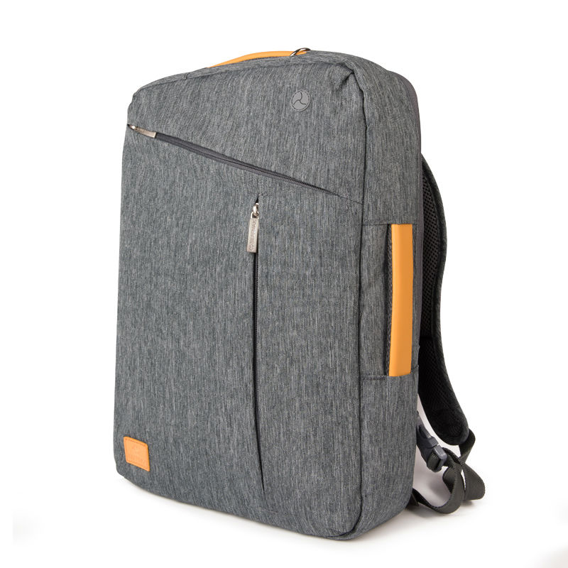 2017 Fashion School Backpacks Genuine Leather and Canvas Laptop Backpack for teenagers+Free Keyboard Cover for MacBook 13 15 17