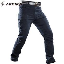 S. ARCHON Winddicht Militaire Denim Jean Broek Mannen Multi Zakken Ademend Tactische Cargo Jean Man Casual Leger Motorfiets Jeans