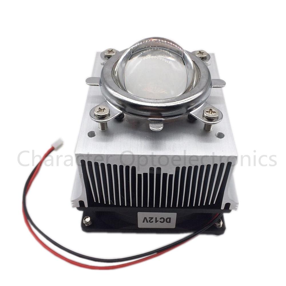 LED Heatsink Cooling Radiator + 60 80 90 120 Degrees Lenes + Reflector Bracket + Fans For High Power 20W 30W 50W 100W LED