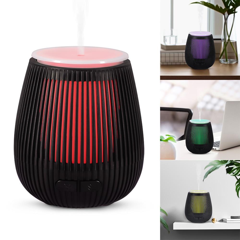 Sculpture sur bois usb humidificateur d'air huile essentielle arôme diffuseur électrique brumisateur chaud veilleuse pour maison chambre