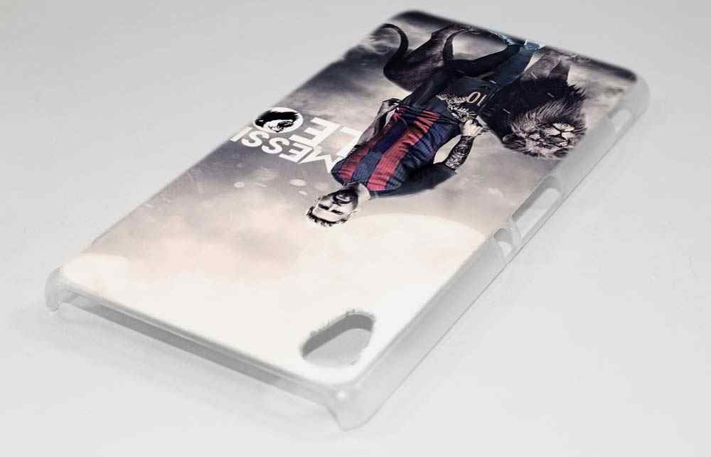 new concept 9f0dd 84937 BINYEAE Lionel Messi Hard Clear Case Cover for Sony Xperia XA XA1 X M4 Aqua  M5 E4 E5 Z5 Z3 Z2 Z1
