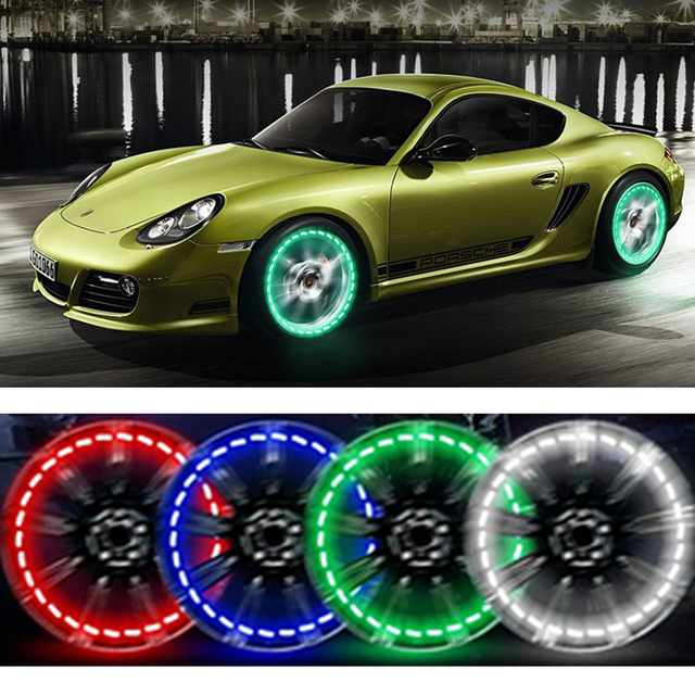Led Per Auto Tuning.Us 14 26 15 Off Direct Selling 4pcs Lot Stunning Waterproof Solar Car Tuning Gas Nozzle Cap Lamp Rim Light Wind Fire Wheels Led Flash Tyre Ae In