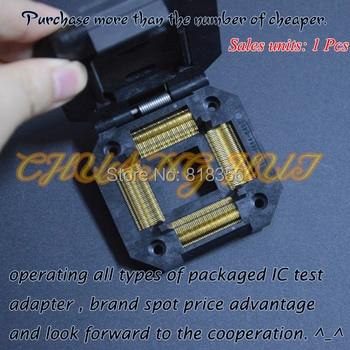 цена на IC51-1444-648 test socket  QFP144 TQFP144 LQFP144 IC SOCKET Pitch=0.65mm Size=28x28mm 32x32mm