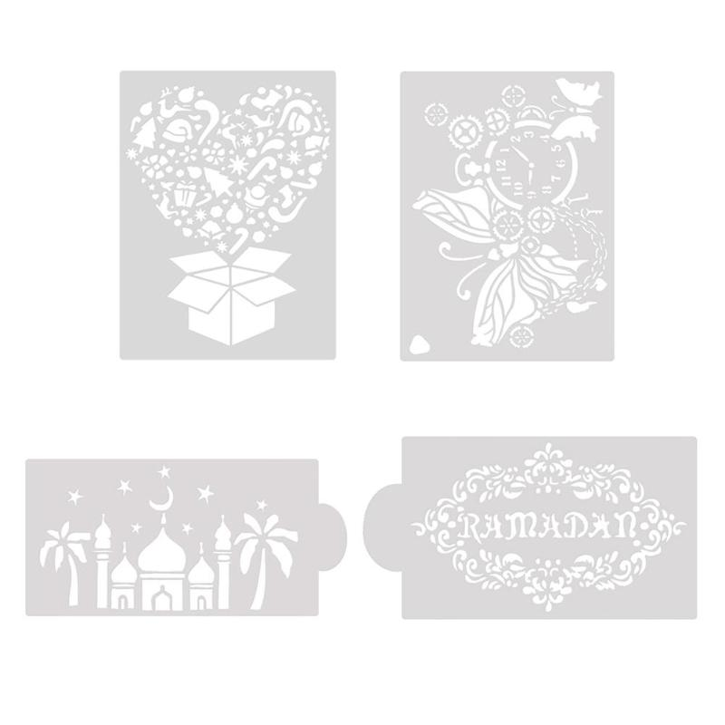 DIY Flower Coffee Stencils Cake Baking Templates Scrapbooking Painting Decorative Craft Cake Cookie Coffee Spray Stencil
