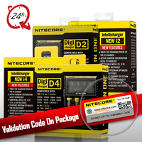 100 Original Nitecore D4 D2 New I4 I2 Battery Charger LCD Intelligent Li Ion Charging 18650