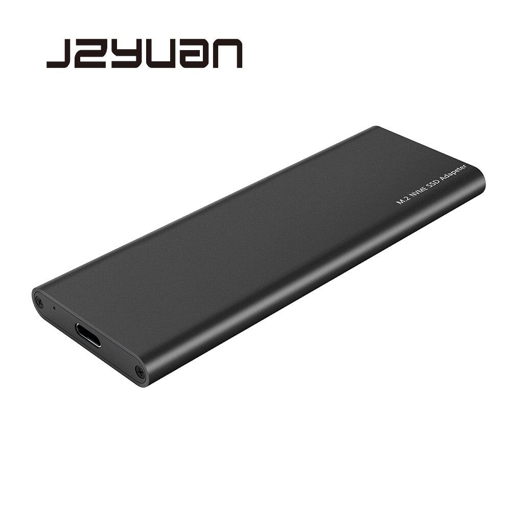 JZYuan USB C 3.1 à M.2 NVME 10gbps HDD Boîtier M.2 PCI-E SSD Disque Dur BOÎTE M-KEY à USB-C Soutien 2230 2242 2260 2280