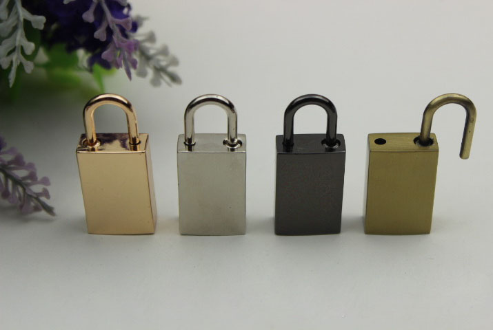 Enthusiastic 6pcs/lot There Is No Key Switch Lock Hand Zip Lock Act The Role Ofing Is Tasted Lock Hardware Accessories Decorate Padlock Bag Parts & Accessories