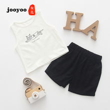 Baby Clothes Summer Girl 2pcs Top+Short Pants Cat Cotton Boy Newborn jooyoo