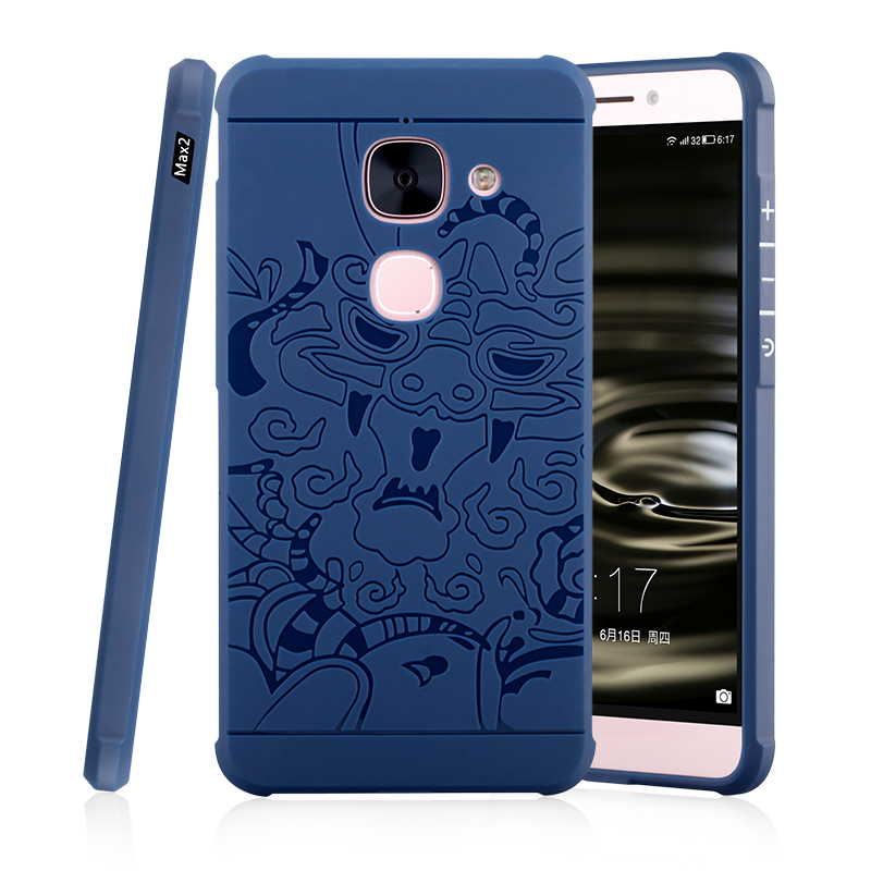 Original Case For Letv Leeco <font><b>le</b></font> max <font><b>2</b></font> X820 Shockproof Armor 3D carved Dragon Silicon Back Cover for leeco le2 <font><b>le</b></font> <font><b>2</b></font> Pro <font><b>X527</b></font> image