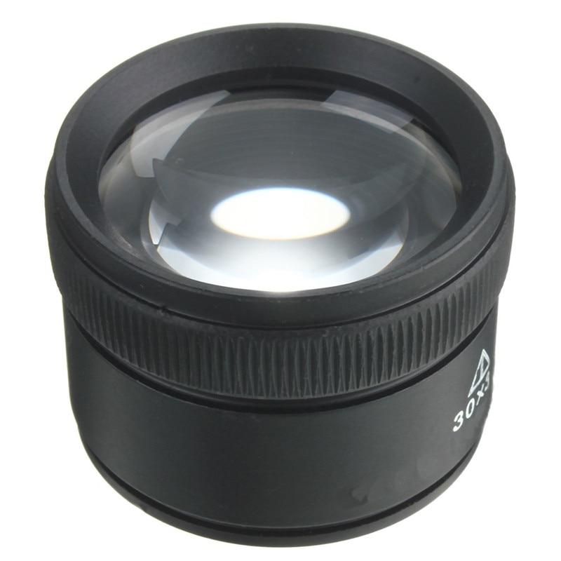 Black 30 X 36mm Jeweler Optics Loupes Magnifier Magnifying Tool Glass Lens Loop Microscope Watch Repair Tool 9892d headset watch repair magnifier tool w led white light black