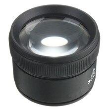 Negro 30X36mm Joyero Óptica Lupas Lupa Microscopio Herramienta Loop Lente de Cristal Herramienta de Reparación de Relojes