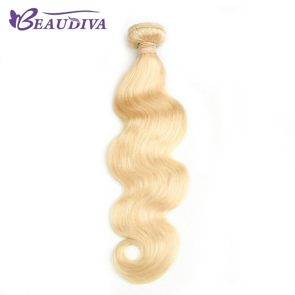 BEAU DIVA Малайзии объемная волна Связки 1 шт. 100% человеческих волос Связки 613 блондинка Цвет 10 -24 не Волосы remy расширение Бесплатная доставка