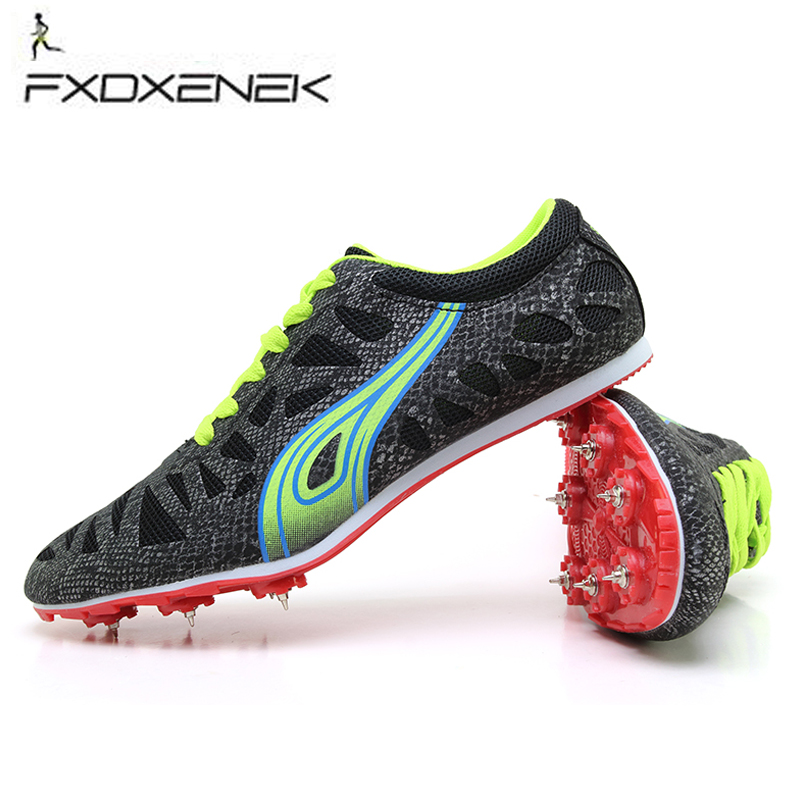 Professional Men Track Field Shoes Outdoor Sport Spikes Sneakers Male Athletic Shoes Zap ...