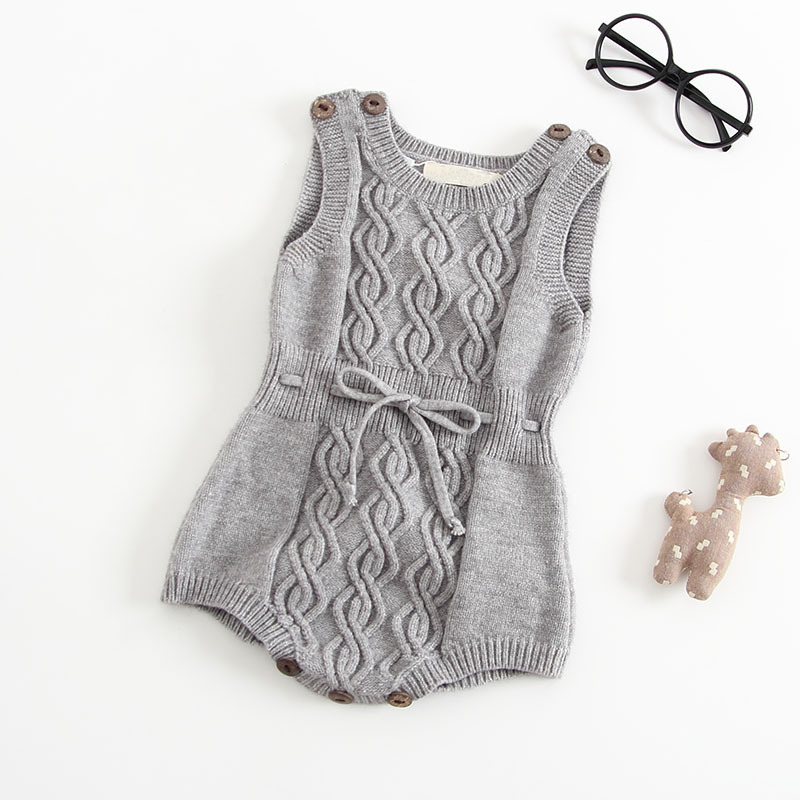 Sodawn Baby Girls Boys Clothes  Autumn Winter Wool Jumpsuit Plush Knit Romper Jumpsuit Clothes Baby