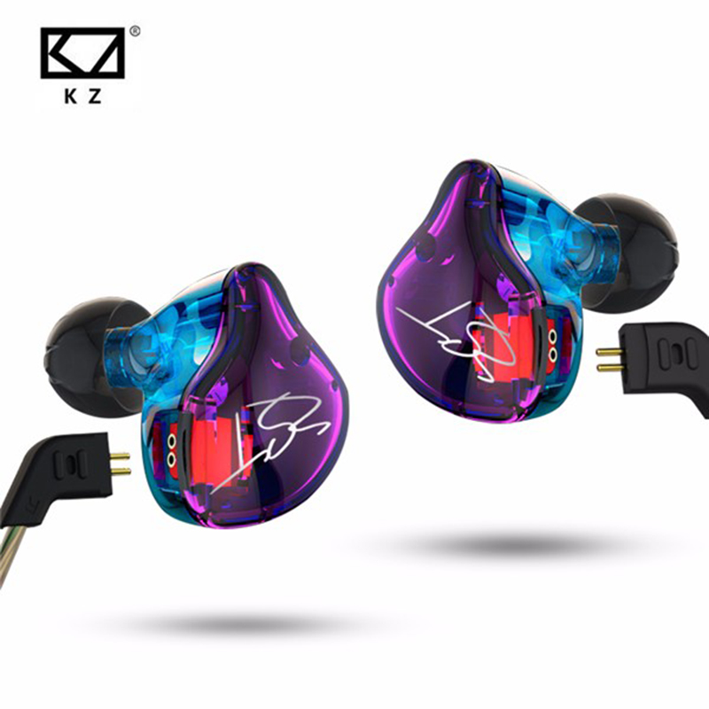Original KZ ZST 1DD+1BA Hybrid In Ear Earphone Balanced Armature HIFI DJ Monito Running Sport Earphones Earplug Headset Earbud new hybrid in ear wireless earphone hifi dj monito running sport earphones bluetooth headphone earplug headset earbud