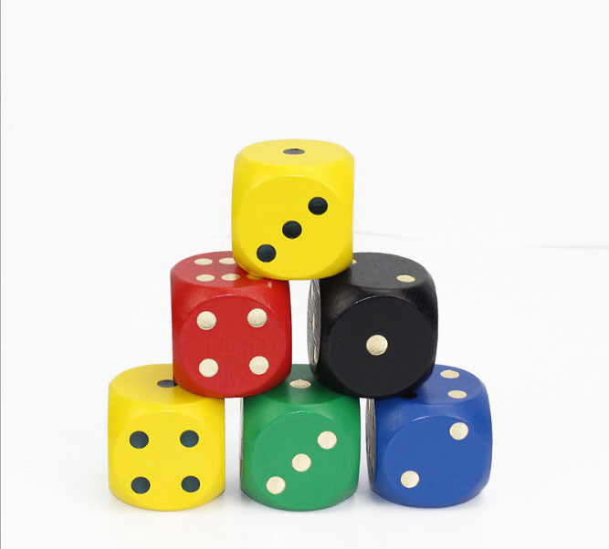 50MM color NS dice 14 toy accessories drink collection of children toy dice