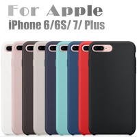 Original Have LOGO For Apple IPhone 7 Liquid Silicone Case For IPhone 7 Plus 6S Phone