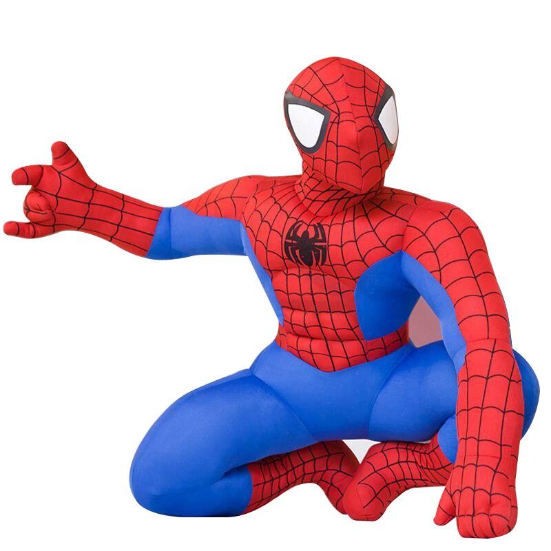 20cm 1pc HIGH QUALITY New Hot Marvel Comics Item Spider-Man Movie Figure Soft Stuffed Spiderman Plush Toy Doll For Boy Birthday