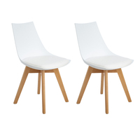 EGGREE 2 Pieces Kitchen Chairs Dining Chair Mirror Frame With Feet Office Room Of Solid Wood