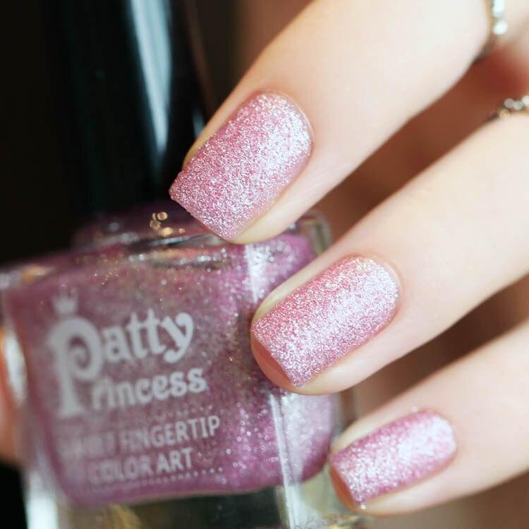 Brand New Glitter Nail Polish Fine Sand Pink Color Nails Gel Varnish ...