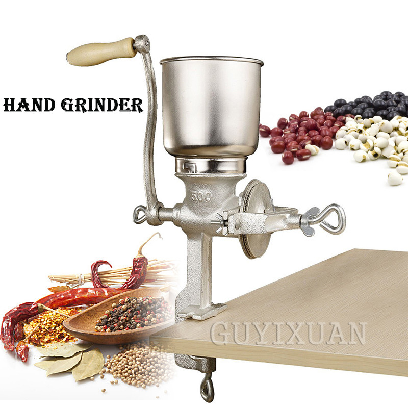 Household Manual Grinder Hand Shake Food Corn Coffee Bean Grinder Stainless Steel Grinder Manual Coffee Bean Grinder