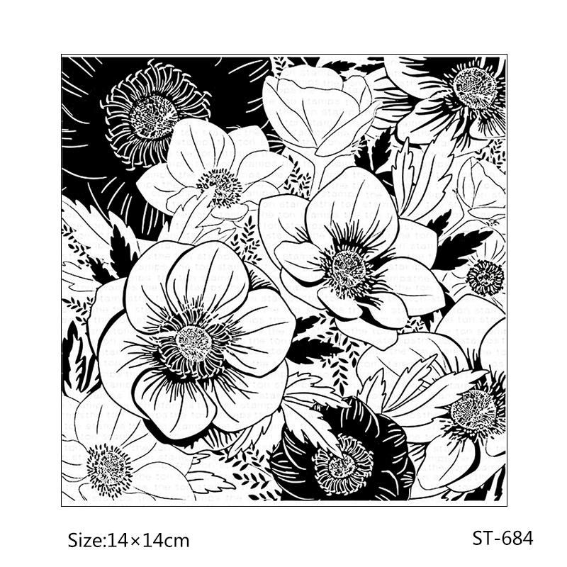 AZSG Ornamental cute flowers style Clear Stamps Seal For DIY Scrapbooking Card Making Album Decorative Rubber Stamp Crafts in Stamps from Home Garden