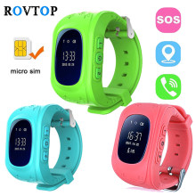 Rovtop Q50 Smart Watches for Children Kids Baby GPS Tracker Smart Watch SOS Remote Monitor Support SIM Card for iOS Android Z35(China)