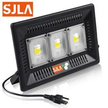 SJLA Warranty 5Year Waterproof IP65 Indoor Outdoor Wall Garden Spot Refletor Exterior Foco Lamp 50W 100W Plug Led Flood Light(China)