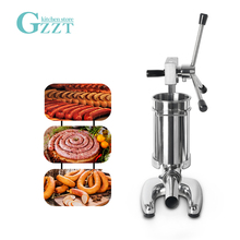 цена GZZT Manual Sausage Maker Stainless Steel Sausage Meat Stuffer Filling Machine With 4 Funnels Sausage Filler Kitchen Meat Tools в интернет-магазинах