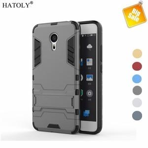Case For Meizu Pro 6 Dual Layer Cover Soft TPU & Hard Plastic Coque For  Meizu Pro 6 Phone Mobile Kickstand Funda Capa