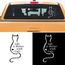 free shipping 1PC romantic texts life is better with cats  for ford ranger dmax tritonpickup window sticker