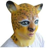 Cartoon Leopard Head Latex Mask Halloween Sexy Women Realistic Animal Rubber Masks Masquerade Dance Party Cosplay