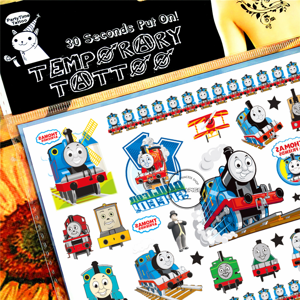 SHNAPIGN Train Thomas Child Temporal Body Art Flash Tattoo Sticker 10 - Tatuaje y arte corporal - foto 3