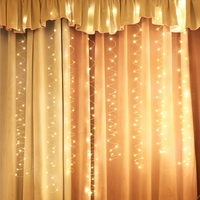 YINGTOUMAN Christmas Lights Outdoor Decoration Led Curtain Icicle String Lights Garden Xmas Party Decorative 3*3M USB Lights