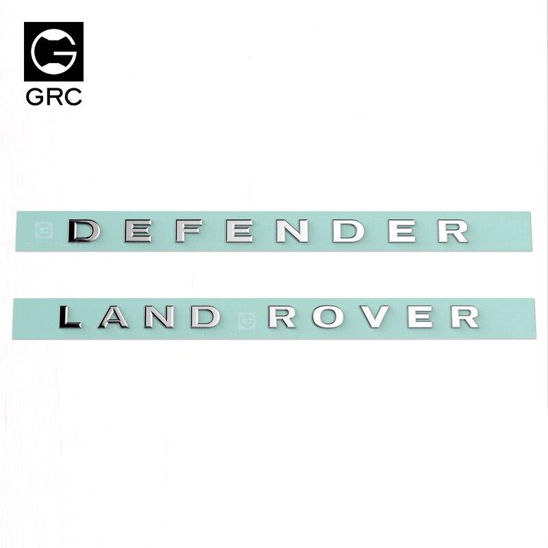 GRC land TRX4 RC4WD D90 D110 металлический логотип украшения R/c Запчасти Аксессуары для радиоуправления аксессуар для автомобиля Модель - Цвет: Each One