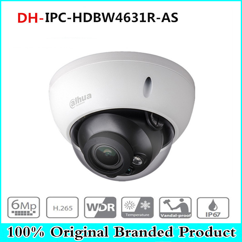 Dahua IPC-HDBW4631R-S 6MP H265 POE IR30M Dome IP Network Cameras SD Card 2.8mm