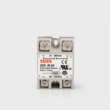 цена на SSR-60AA Input 80-250V AC load Voltage 24-380V AC single phase AC  control AC solid state relay SSR 60AA Include Heat Sink