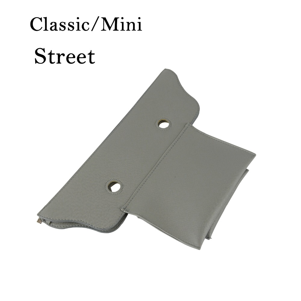 False Inner Lining Classic Mini PU Leather Zip Top Street Insert For Obag Standard Mini O Bag Women's Handbag Accessory