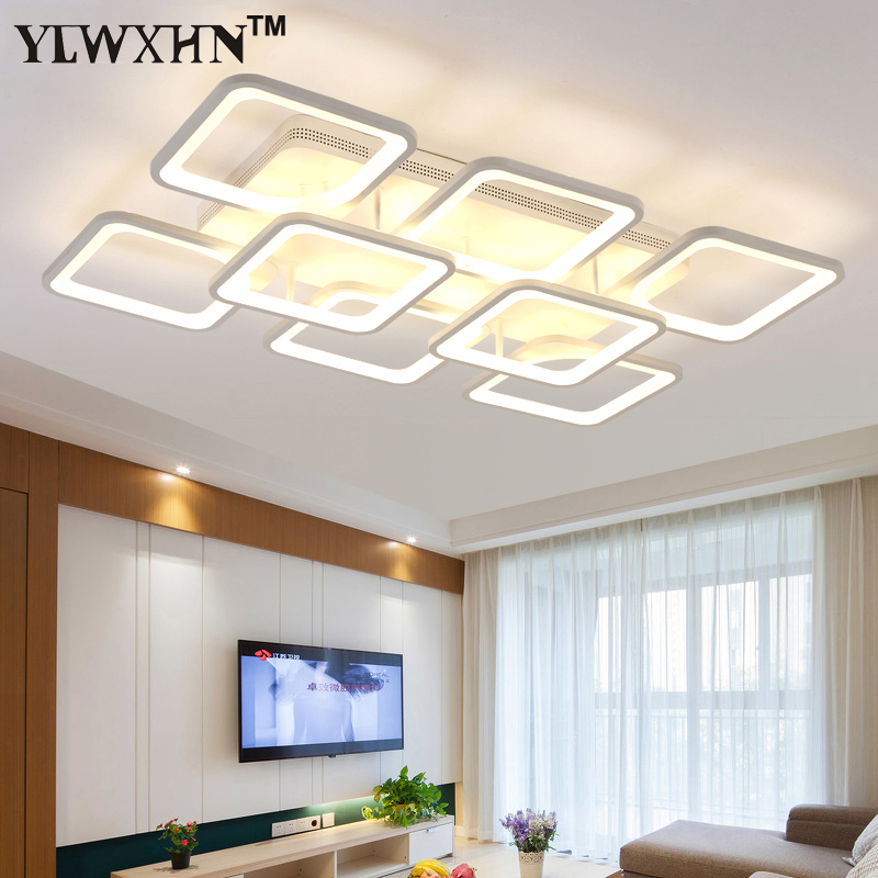 2017 Ce Ac Holiday New Sale Abajur Living Room Lamp Rectangle Atmosphere Led Ceiling Modern Minimalist Acrylic Aluminum Bedroom vemma acrylic minimalist modern led ceiling lamps kitchen bathroom bedroom balcony corridor lamp lighting study