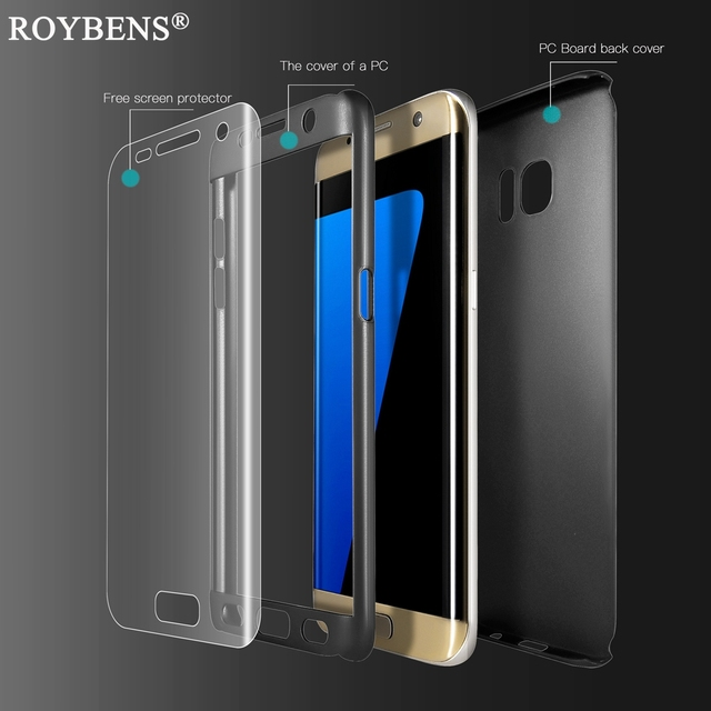 purchase cheap 44231 e85a3 S7 / S7 Edge Case Cover Roybens 360 Degree Full Protection Case For ...