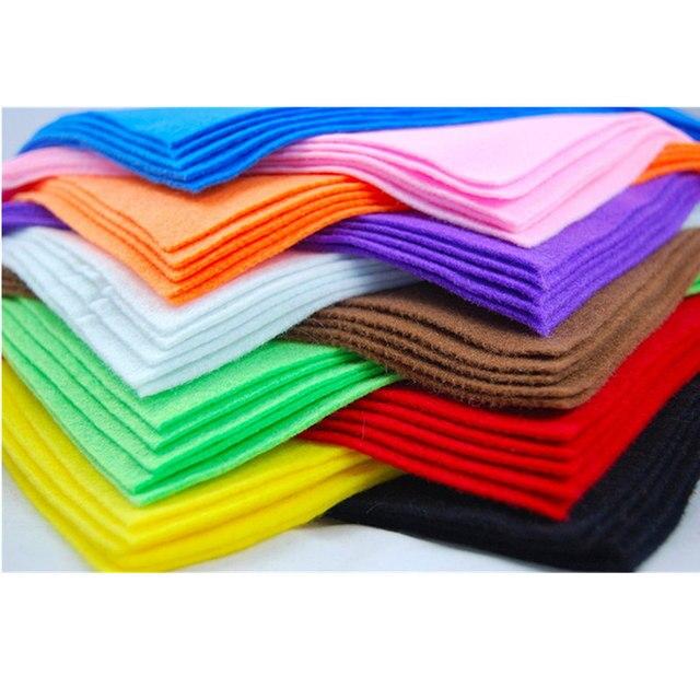 10 * mềm Không Dệt Cảm Thấy Tấm Vải Sợi Dày Trẻ Em TỰ LÀM Thủ Công Các Loại Vải Vuông Thêu Scrapbooking Craft AA8501