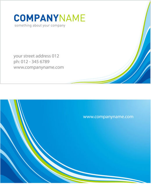 Bleu Simple Concise Modele De Carte Visite Les Deux Cotes Impression Y0014