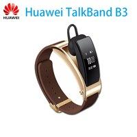 Натуральная huawei TalkBand B3 Talk Band B3 Bluetooth Smart Браслет Фитнес переносной Спорт Совместимость смарт мобильный телефон браслет