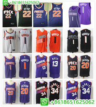 154318ad2fb Phoenix Deandre Ayton Josh Jackson Devin Booker Steve Nash Charles Barkley  mens basketball jerseys camiseta maillot