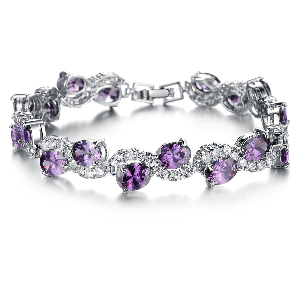 purple bracelet with silver beads karikoo shop and amethyst