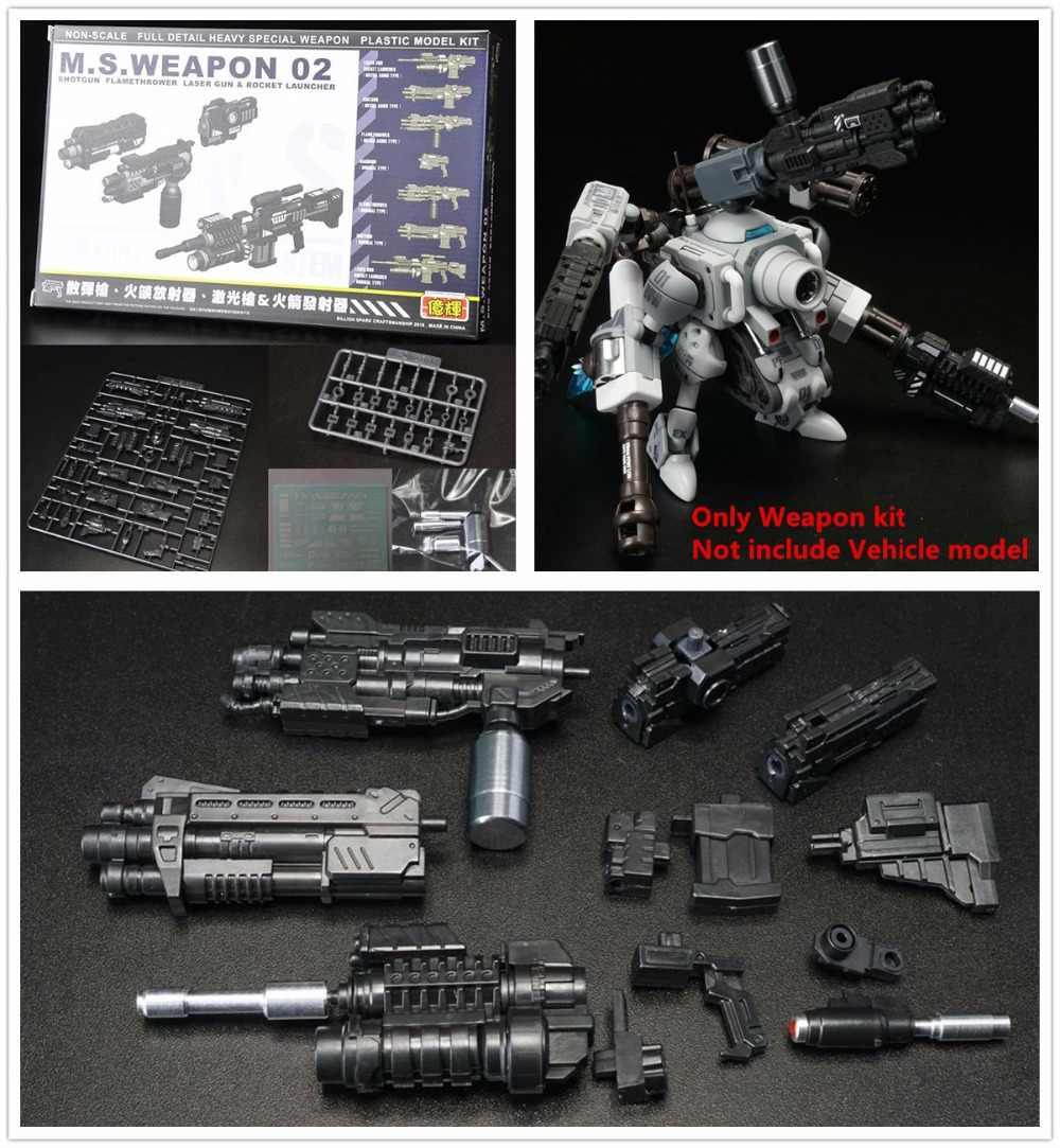 YH M.S. broń 02 zestaw specjalny do metalu Slug Super pojazd Bandai MG Gundam