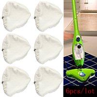 6pcs Lot Replacement Pads Compatible For H2O H20 Steam MopReplace Ment Washable Triangular Steam Mop Microfiber